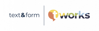 text&form is. a t'works Company