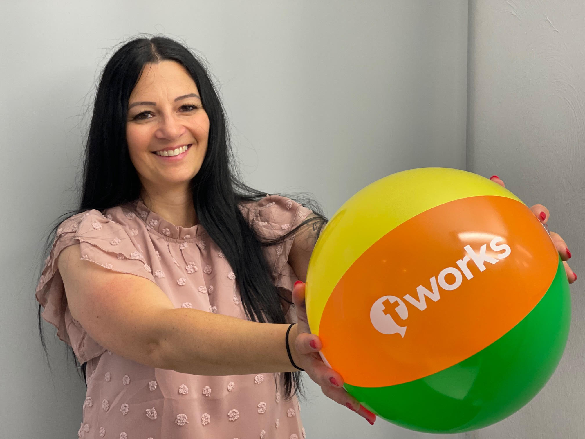 Linda Sidera with t'works giveaways