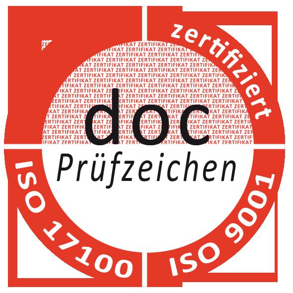 Zertifizierung DIN 15038 und DIN 9001:2015